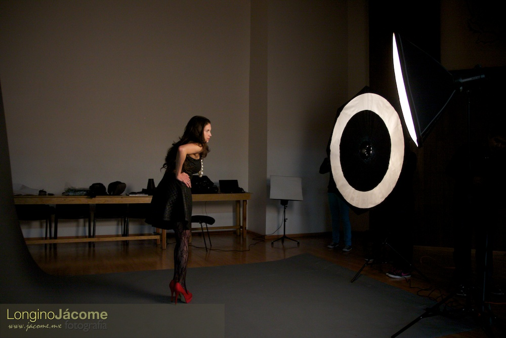 Iluminación con Ring Flash y caja de relleno